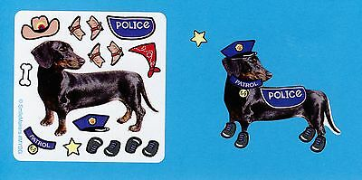 15 Make Your Own Dog Stickers - Cowboy, Police - Party Favors - - Make Your Own Dog