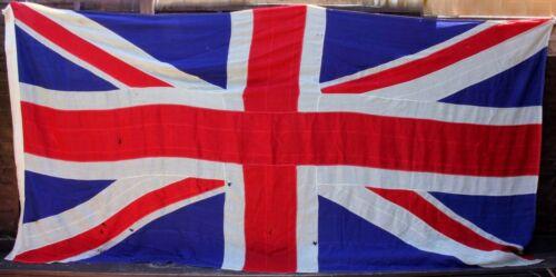 Original Vintage Very Large Union Jack Stitched Panel Flag. 4 Yard. 12 ft x 6 ft