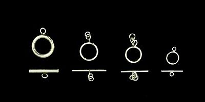 925 Sterling Silver Solid Toggle Set Jewelry Findings Clasp 12-21mm High Quality 12 Sterling Silver Toggle Clasp