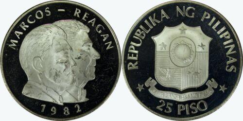 1982 FM Philippines 25 Piso Proof ~ Low UNC ~ Mintage of 250 ~ KM#235 ~ MX192