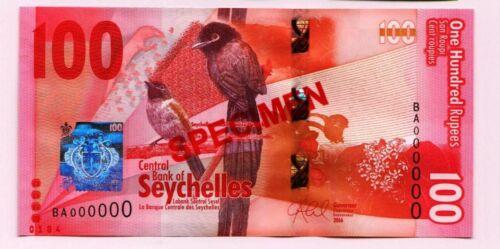 SPECIMEN: Seychelles 100 Rupees, 2016, P-NEW, UNC