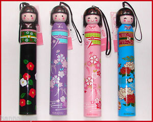 Japanese-Kokeshi-Doll-Folding-Umbrella-Four-Floral-Prints-Available