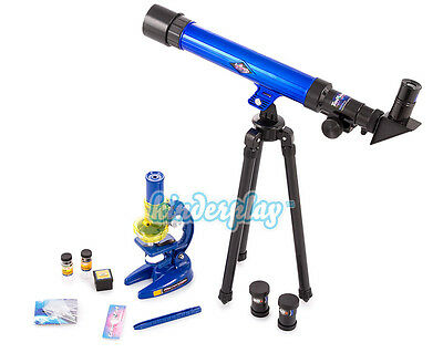 Mikroskop Teleskop Set für Kinder Astronomie KP3728 TOP Einsteiger Mikroskop