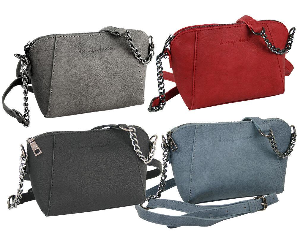 Kleine Damen Handtasche Schultertasche Umhängetasche mit Kette - 4 Farben