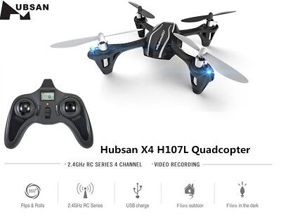 Hubsan H107l X4 H107p Rc Quadcopter W Led Mini Drone Helicopter Toy Rtf Us Stock
