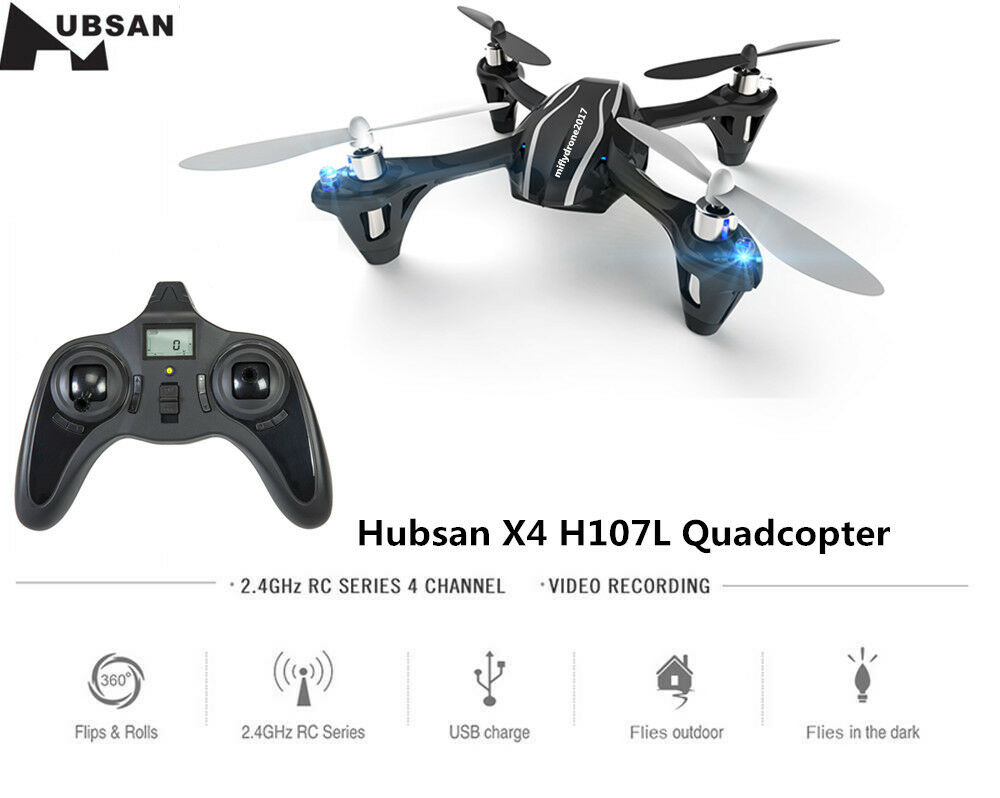 Hubsan X4 H107L 2.4G 4CH Mini RC Quadcopter with LED Lights RTF Toys Drone Gift