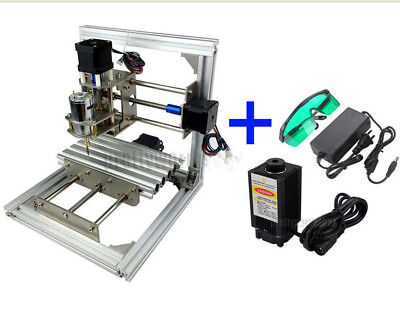 No Vat 3 Axis Cnc Mini Milling Engraving Machine Router Diy500mw Laser Power