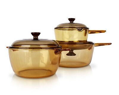 Visions Vs-337 Pot Kitchen Cookware Saucepan Glass Cookpot Pasta Pots 6p Set