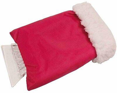 Raschia ghiaccio con guanto 16 x 3 x 25 cm colore rosso comodissimo per auto