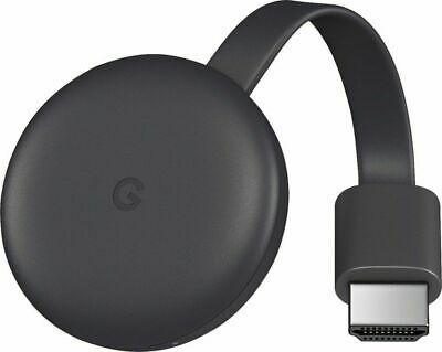 GOOGLE CHROMECAST 3RD GENERATION HDMI TV STREAMING DEVICE GA00439-US CHARCOAL