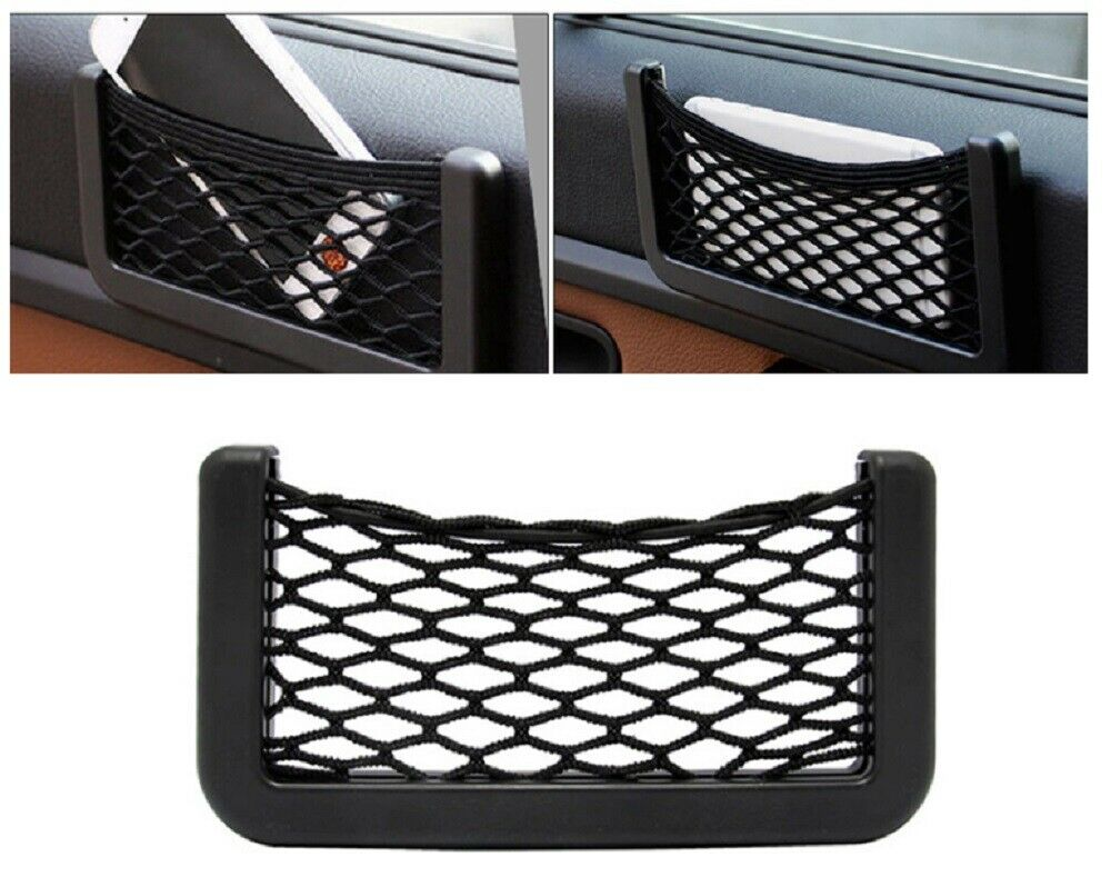 2Ps Universal Car Storage Net String Pouch Bag GPS Phone Holder Pocket Organizer Car & Truck Parts