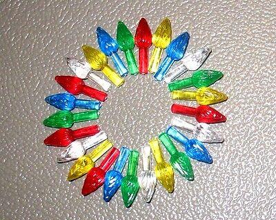 25 Replacement Medium Twist Flame Lights Bulbs Peg for Ceramic Christmas Tree  ()