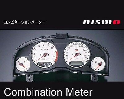 JDM OEM NISMO COMBINATION METER CLUSTER WHITE SKYLINE R34 GT-R BNR34 JAPAN F/S