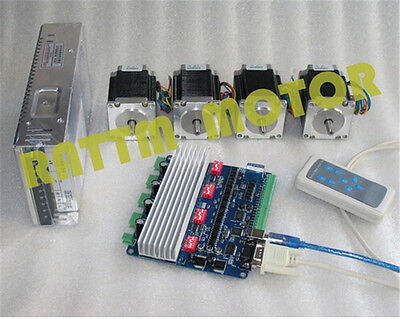 4 Axis Nema23 270oz-in Stepper Motor 76mm 3atb6560 Usbcnc Driver Cnc Router Kit
