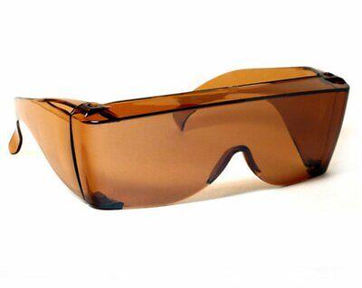 Sun Shield Sunglasses Copper Brown Tint Fits Over Prescription Glasses Driving