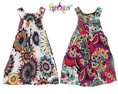 Beach Dresses Girls Bohemian Knee-length Dresses Summer Baby Girl for Girl Kids](Girls Bohemian Dress)