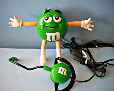 M&Ms Hands Free Talking Clip-On Phone w/Head Set Green Girl