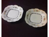 """Rare Antique Pair of Aynsley 10"""" Floral Cake Plates c1900 Great Condition- Bradford on Avon"""