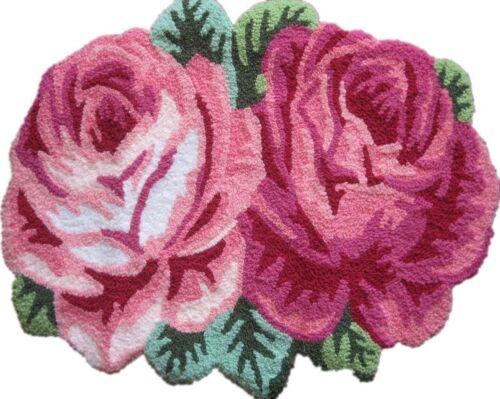 Handmade Rose Shaped Rug Sofa Runner Bedroom Mats Area Rugs Home Garden