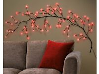 Red LED Branch Wall Light