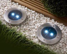 Set Of 2 Solar Spotlights Brand New (online shop)