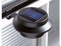 2 Solar Gutter Lights Black Brand New (online shop)