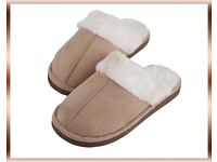 Faux Lambswool Slippers - Ivory