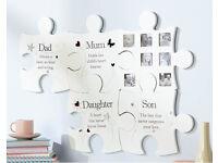 Family Jigsaw Wall Art Photo Frame