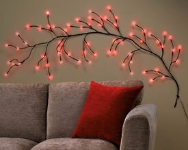 Red LED Branch Wall Light BRAND NEW BOXED