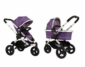 ICandy All Terrain Peach Jogger Stroller & Carrycot - Loganberry