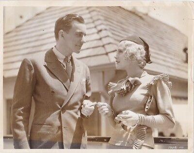 HELEN MACK ARTHUR PIERSON Original CANDID Paramount Studio Lot Vintage '34 Photo