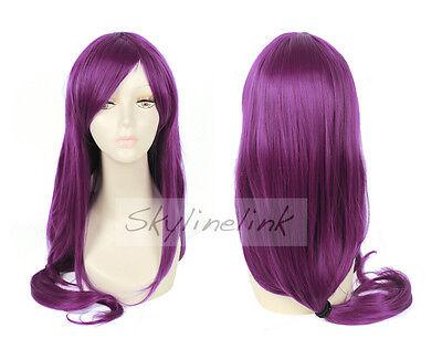 Tokyo Ghoul Guru Rize Kamishiro Perücke wig Anime Manga Cosplay Kostüm lila lang