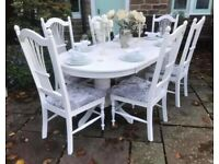 Oval Dining Table & 6 Chairs