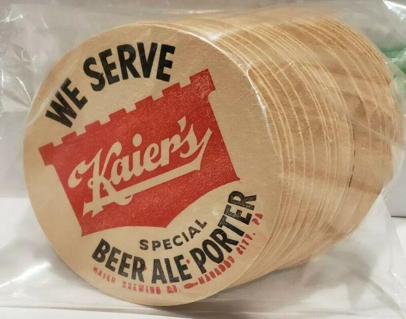 Vintage *We Serve Kaiers Special Beer Ale Porter* Bar Coasters 22 pack