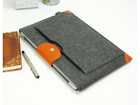 Lavievert Felt Sleeve Laptop Case with Brown Leather - For Apple MacBooks - Brand New