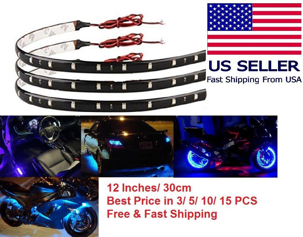 Lot 12V Flexible LED Strip Light Waterproof For Car Boat Mot