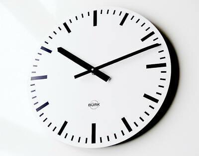 Genuine german BURK Industrial Clock Bauhaus wall design metal midcentury metal