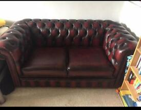 2 seater Chesterfield Sofa 100% Real