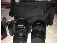 Canon EOS 600D with a Tamron lens and bag