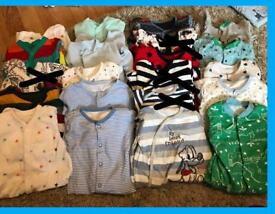 0-3 month sleep suit bundle