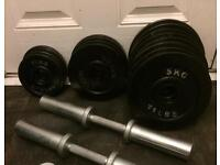 65kg olympic dumbbells set