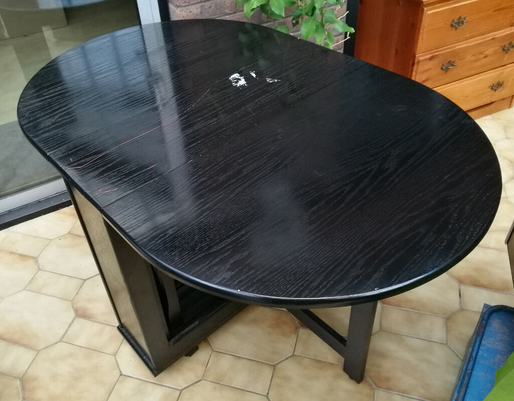 Black Butterfly Fold Away Dining Table Chairs