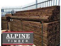 Brown Pressure Treated Rails
