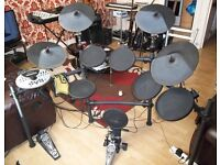 MILLENNIUM MPS 600 - 10 Piece electronic rack mounted drum kit (99 pre-programmed kits)
