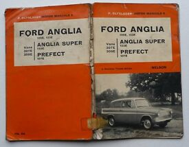 NOSTALGIC COLLECTABLE VINTAGE FORD ANGLIA (1961) HANDBOOK