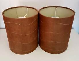 Reduced price, 2 ceiling brown lampshades