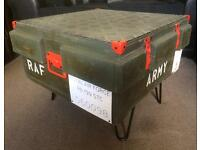 Unique coffee table, military, man cave