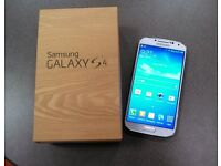 Samsung Galaxy s4, Ice White, Boxed & unlocked to any network