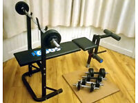 Brand new Weights and York Workout Bench; Save £110 !
