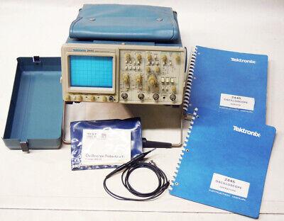 Tektrontix Tek 2445 150mhz 4-channel Oscilloscope Wprobe Manuals Has Issue